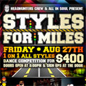 8/27: Styles for Miles 1on1 Battles