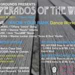 7/9/11: Desperados of the West Dance Workshops