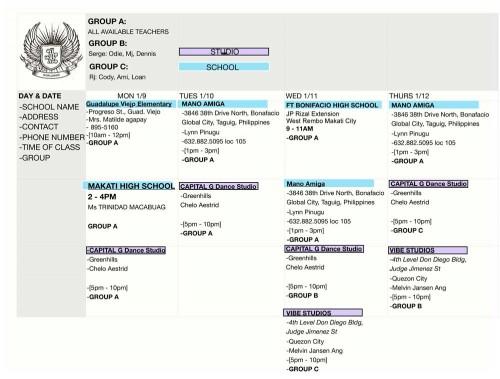 ATWL Philippines 2012 Free Workshop Schedule