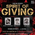 11/27: SPIRIT OF GIVING ft ROJAI & THE POCKET, RAE ROSERO, DENNIS INFANTE, J. OCERA, HOSTED BY RUDY ORTIZ